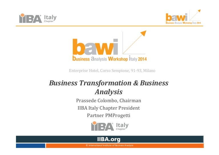 Bawi2014: Business Transformation And Business Analysis