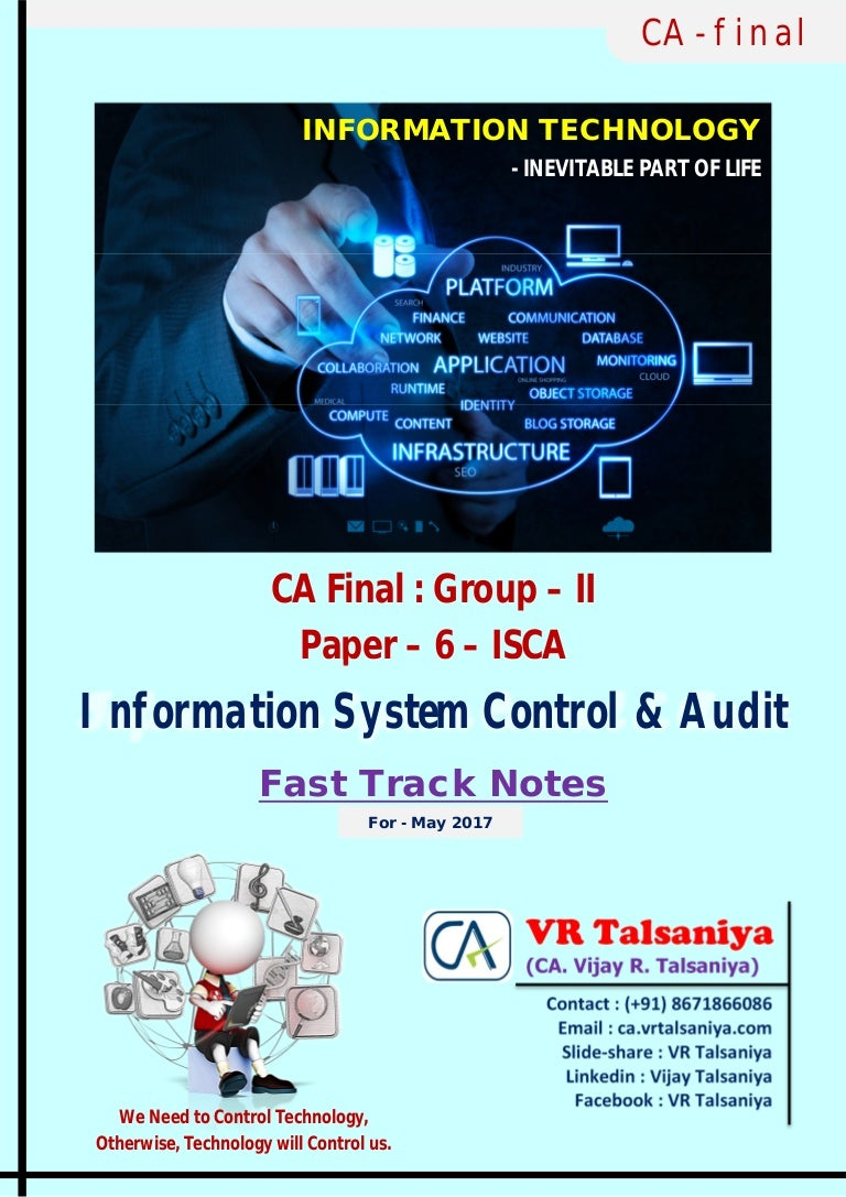 Information System Control & Audit (ISCA) - CA FINAL