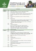 CGIAR Diversity and Inclusion Conference Program