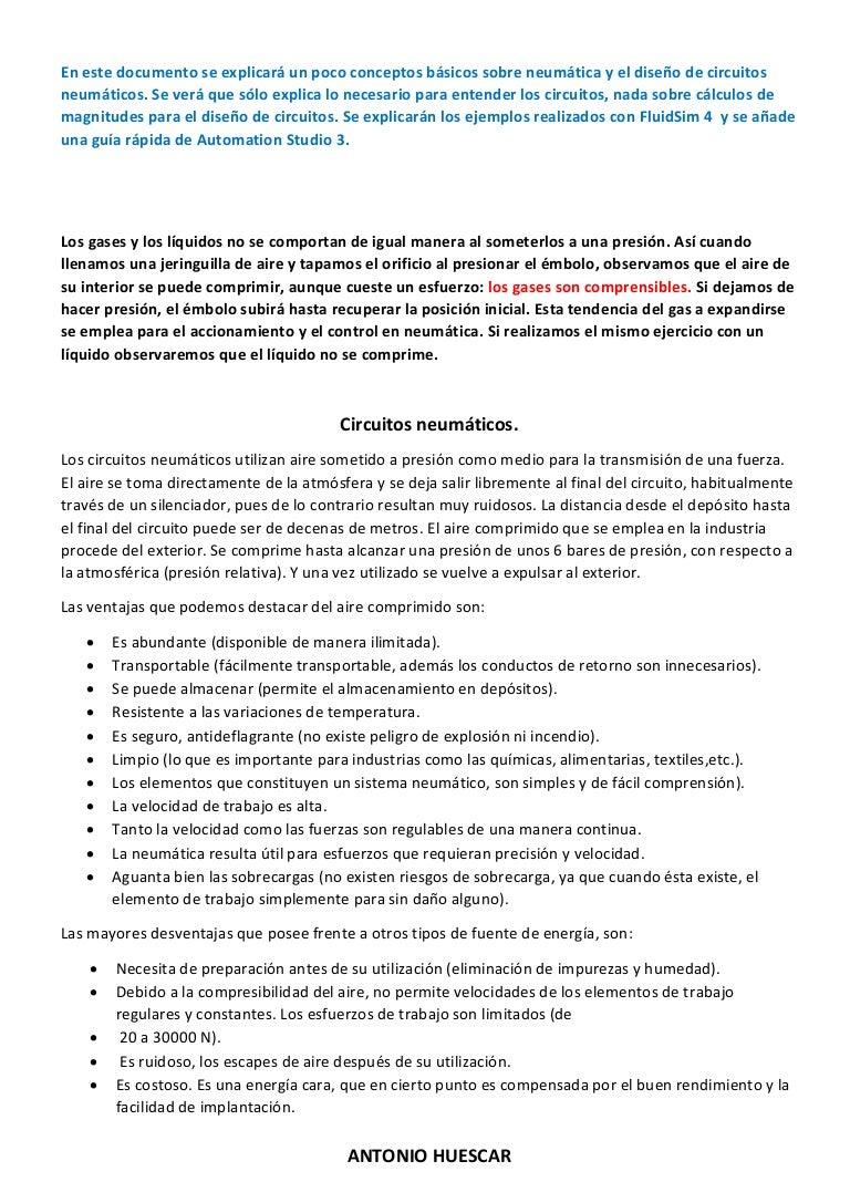 Circuito Neumatico Basico : 001.basicos de neumatica