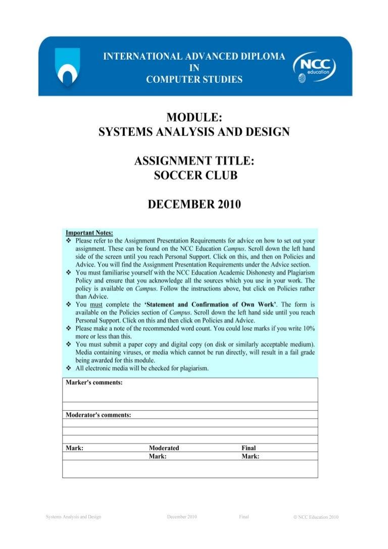 System Analysis & Design (NCC Education)
