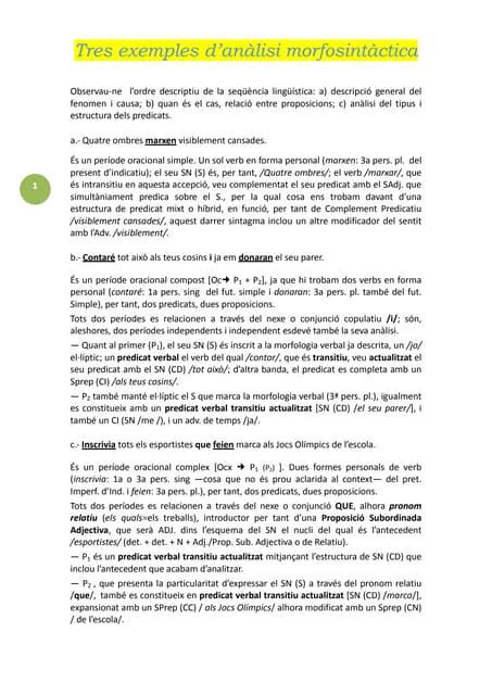 0014d tres exemples d'anàlisi morfosintàctica