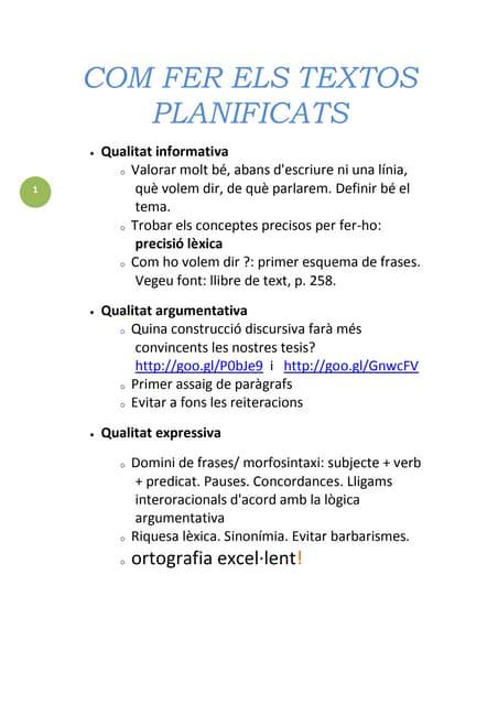 001a com fer els textos planificats