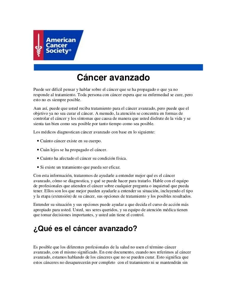 débil para el cáncer de próstata avanzado