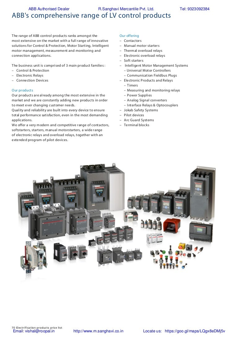 ABB Control gear Price list 2018 003 on