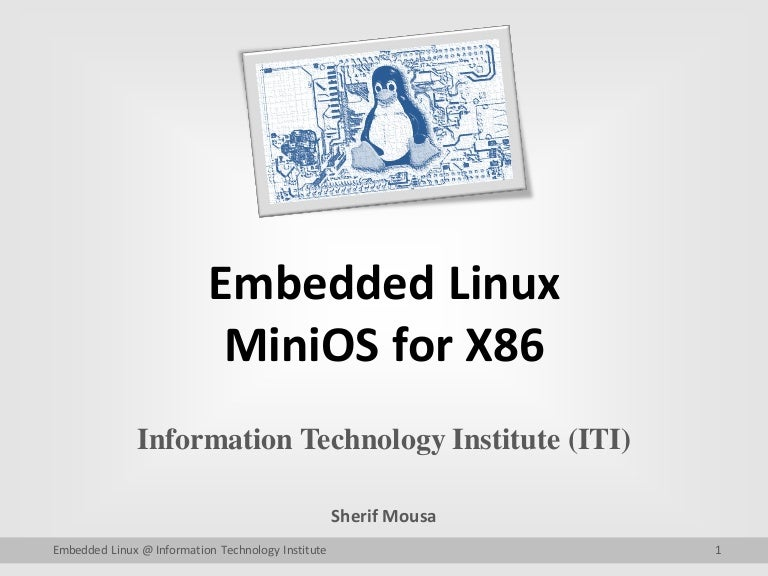 Building Mini Embedded Linux System for X86 Arch