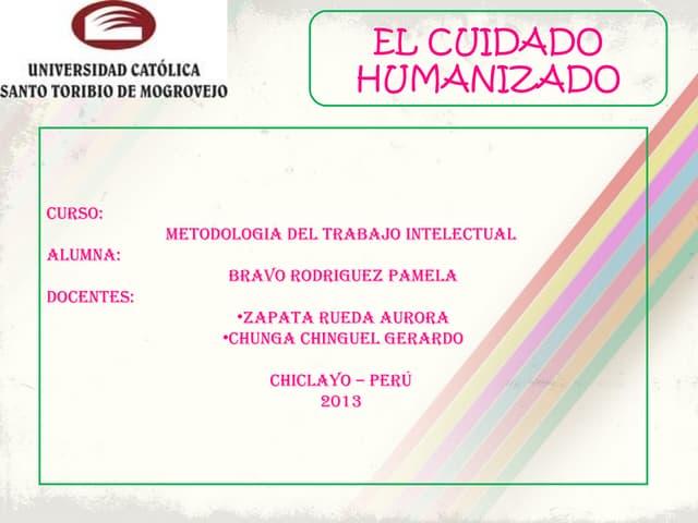 El Cuidado Humanizado