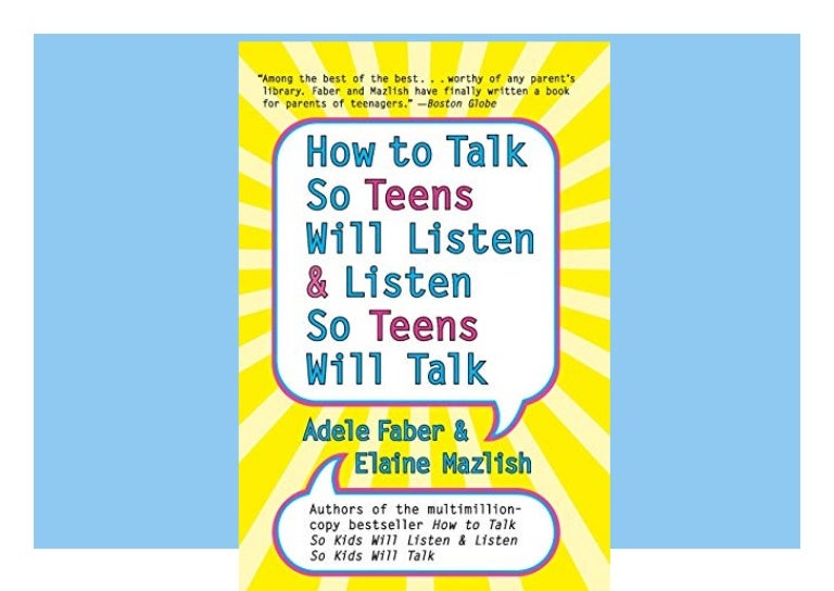 Free [DOWNLOAD]⚡PDF✔ How to Talk So Teens Will Listen and Listen So Teens Will Talk