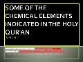 009 the chemical elements indicated in the qur'an