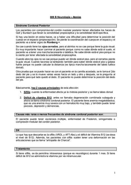 009 b neurología síndrome cerebeloso y ataxia