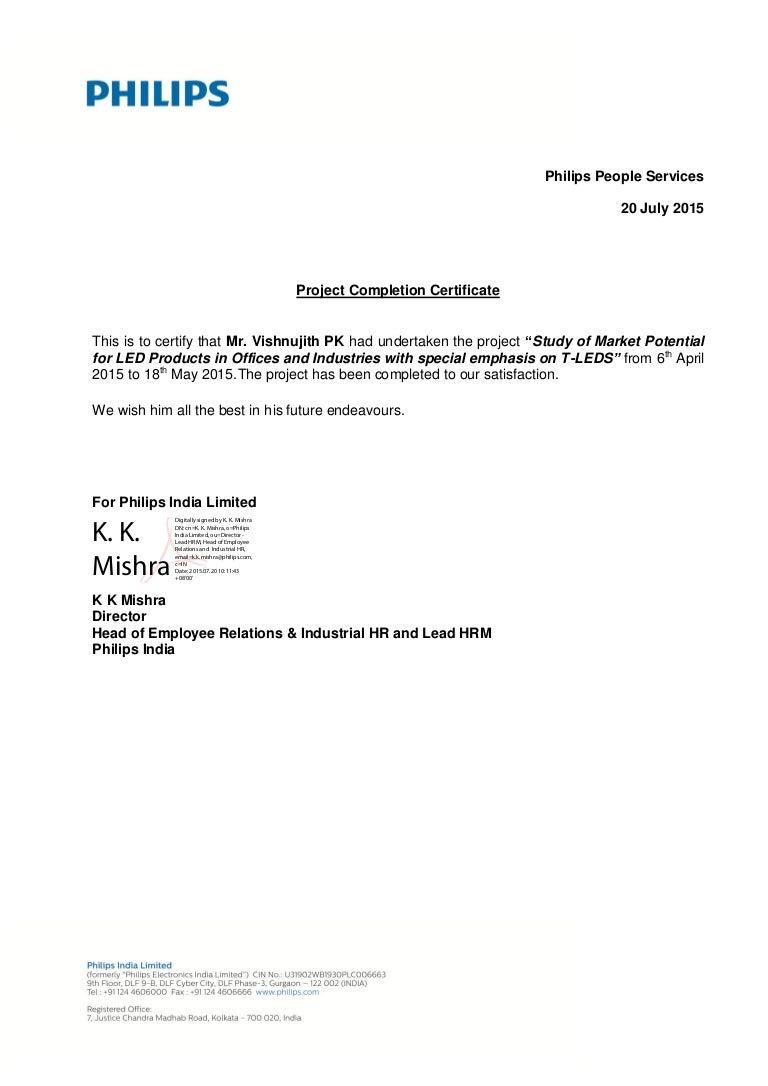 Vishnujith Pk Intern Completion Letter