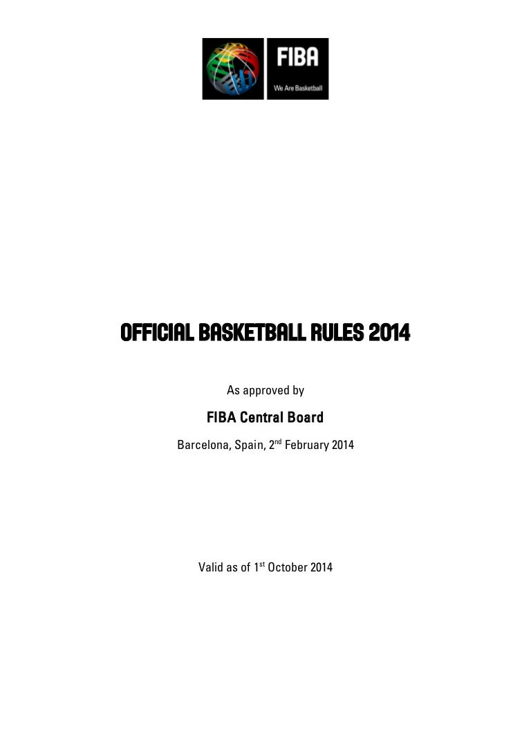Fiba Official Basketball Rules 2014 Bola Basket Size 7