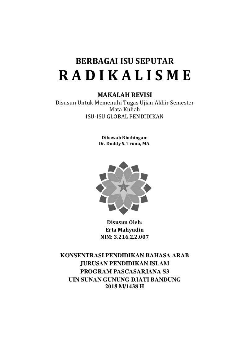 00 Makalah Isu Isu Seputar Radikalisme Revisi