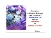 Application and System Engineer