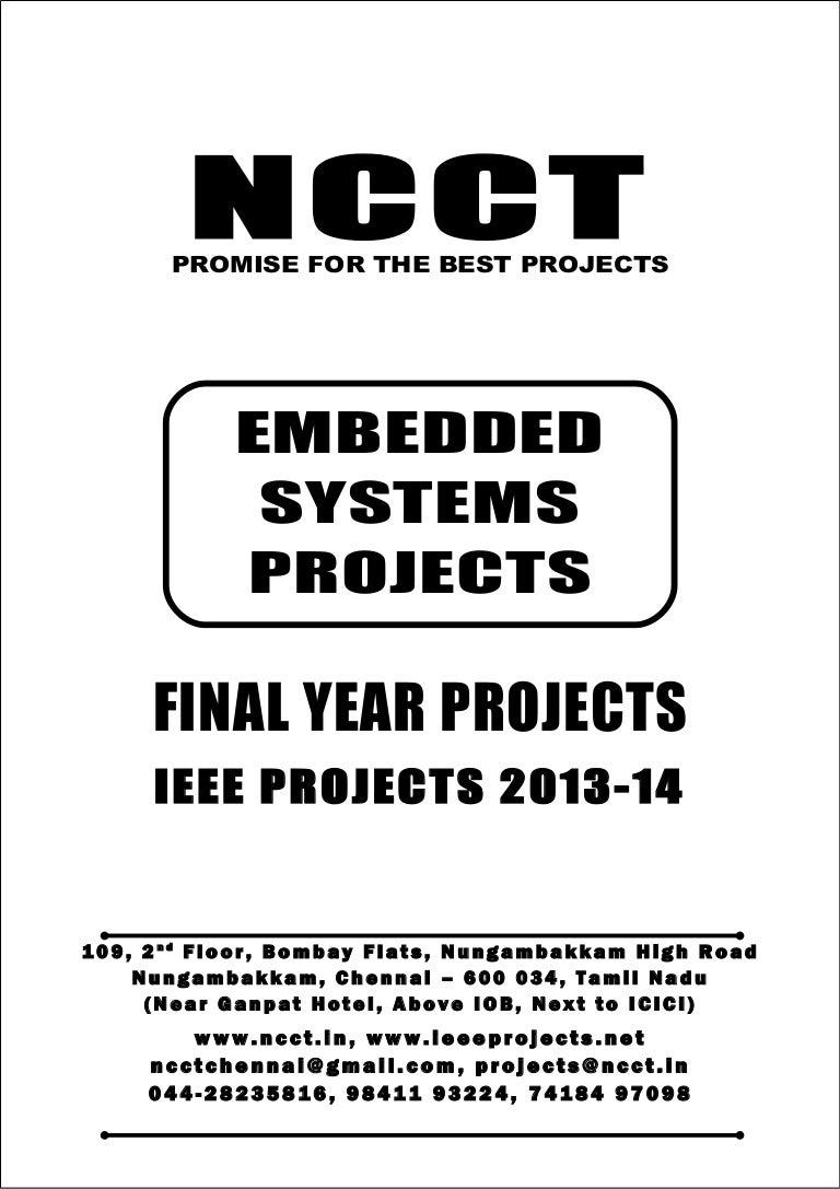 01 2013 ieee embedded system project titles, ncct ieee 2013-14 projec…