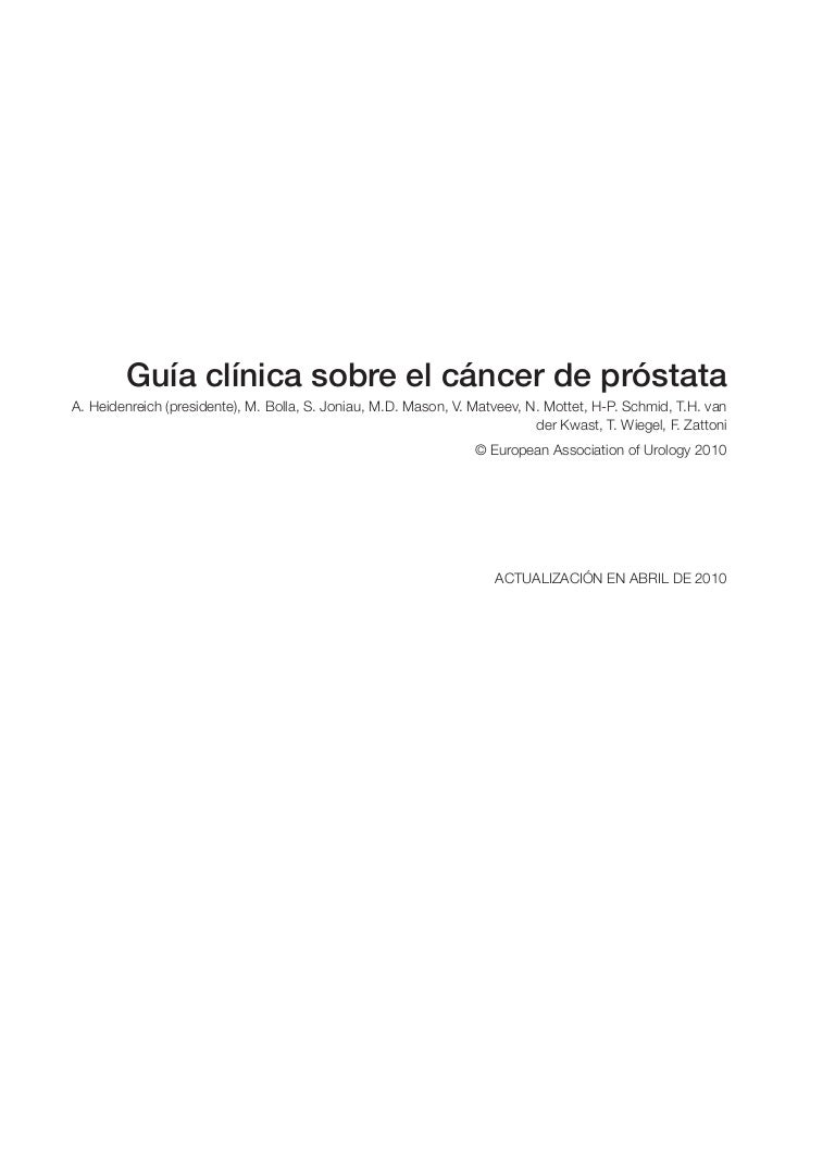 aguja de biopsia de próstata con inflamación crónica focal leve el