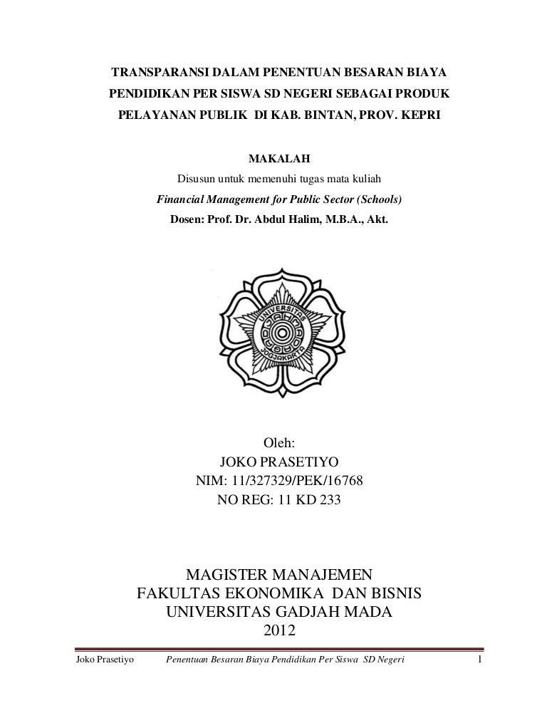 Proposal Tesis Manajemen Keuangan Daerah Case Study Goerge Fisher