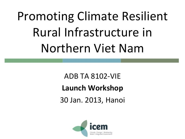 Icem Promoting Climate Resilient Rural Infrastructure In