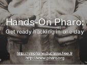Pharo Hands-On: 01 welcome