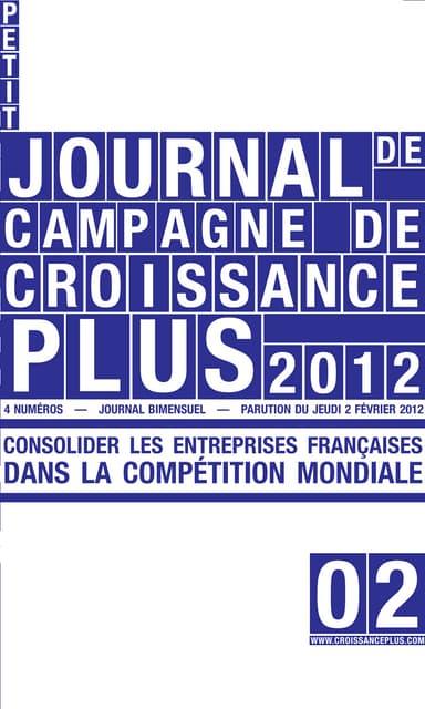 CroissancePlus : Le Petit Journal de Campagne - Numéro 2