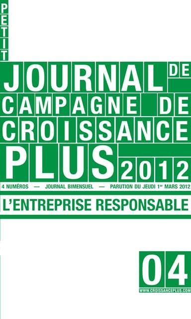 Petit journal de campagne n°4 - L'entreprise responsable