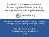 Designing for Connectedness and Openness: Advancing Metaliterate Learning through MOOCs and Digital Badging