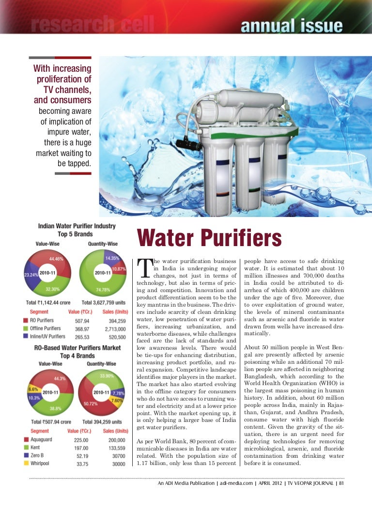 Water purifiers market in India