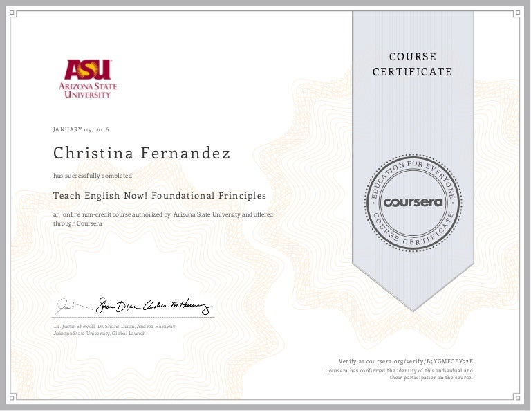 certificate coursera english
