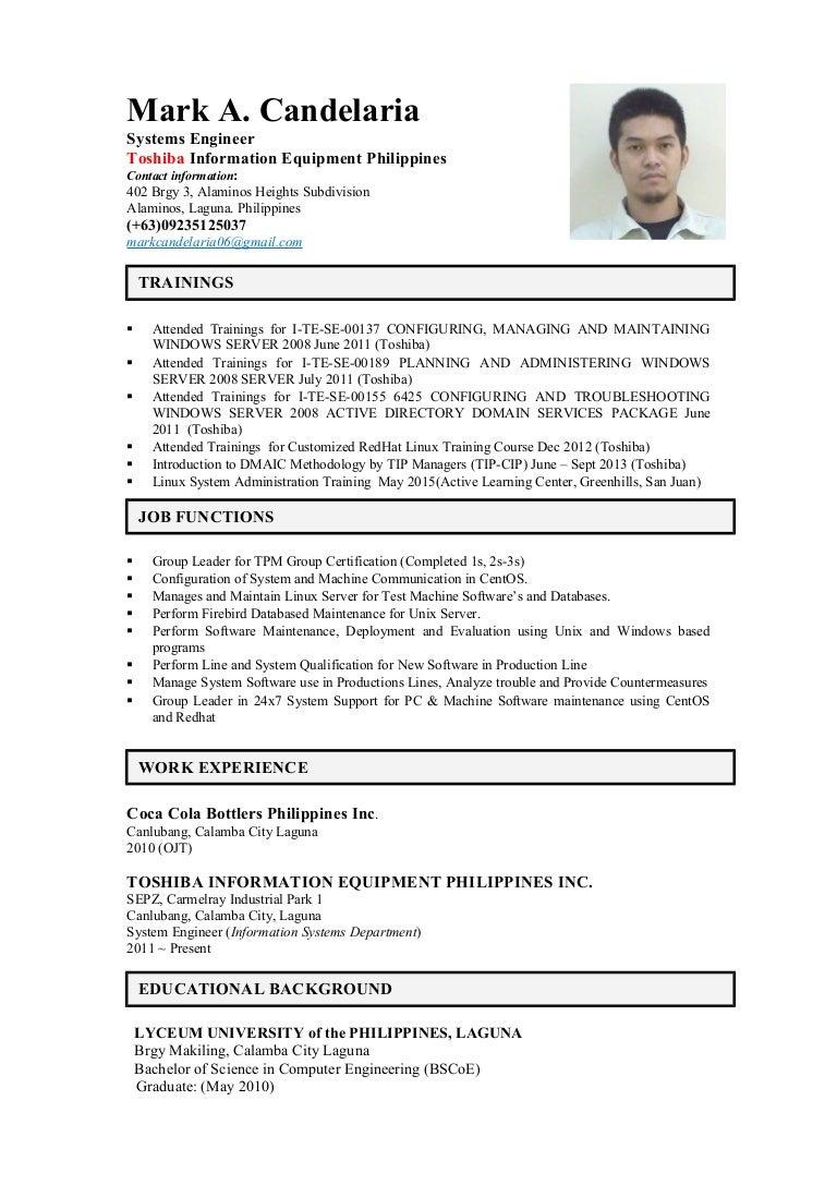 mark candelaria resume