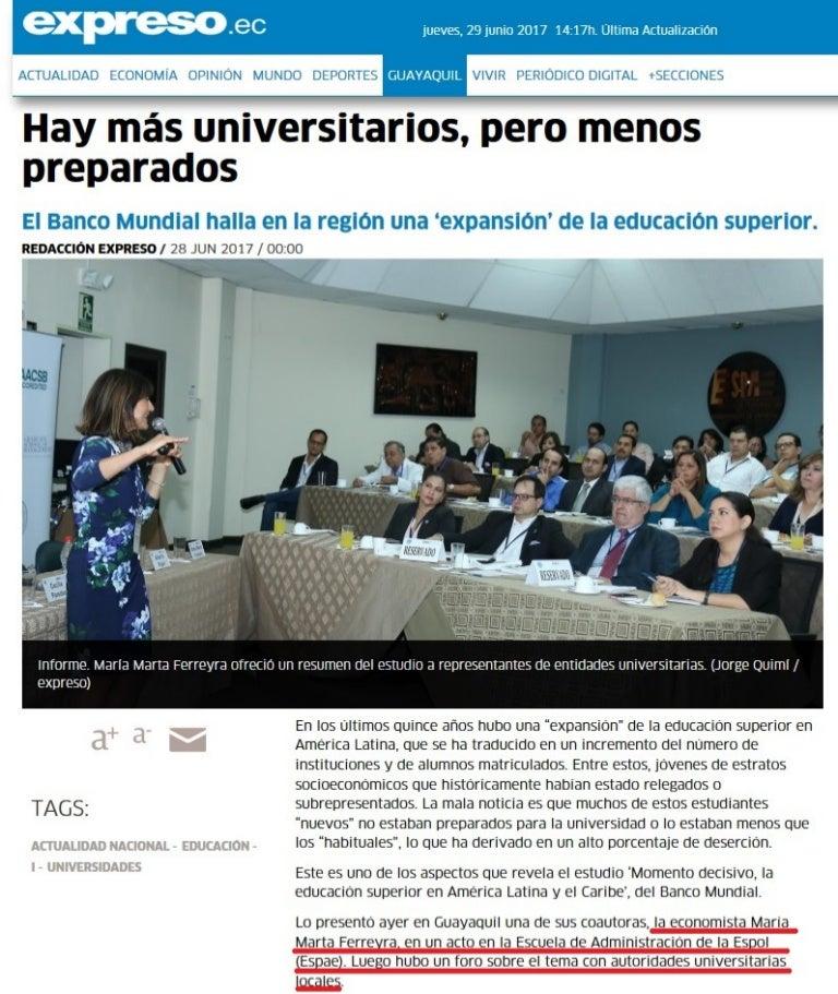 EXPANSIÓN DE LA EDUCACION SUPERIOR EN AMERICA LATINA
