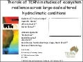 Alfredo Huete_The role of TERN in studies of ecosystem resilience across large-scale altered hydroclimatic conditions