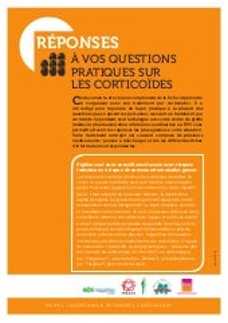 01 corticoïdes   questions réponses