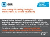 Online Panel vs. Mobile Advertising Recruiting in Market Research Study