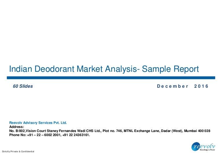 Indian Deodorant Market Analysis - Sample report