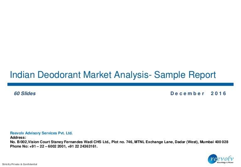 Indian Deodorant Market Analysis - Sample Report