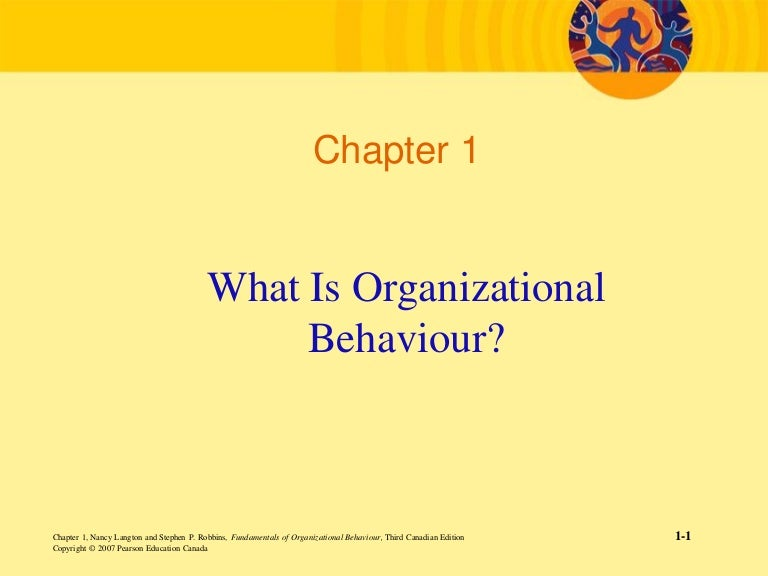 an introduction to the knowledge about organisational behaviour Chapter 1: introduction to organisational behaviour open-systems perspective  perspective which holds that organisations depend on the external environment for resources, affect that environment through their output and consist of internal subsystem that transform inputs to outputs  views.