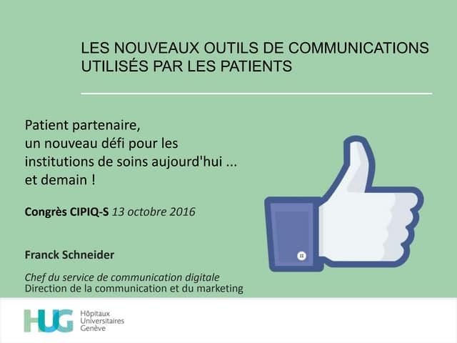 Les nouveaux outils de communications utilisés par les patients