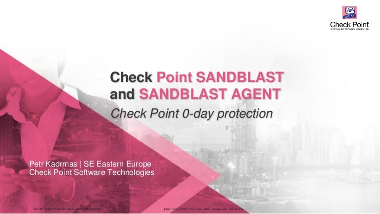 Check Point SandBlast and SandBlast Agent