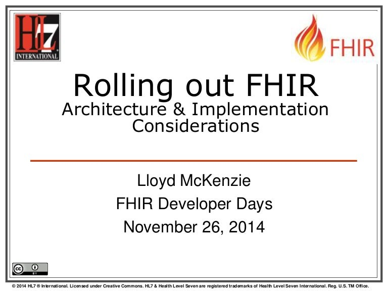 Rolling Out Fhir Architecture And Implementation Considerations By
