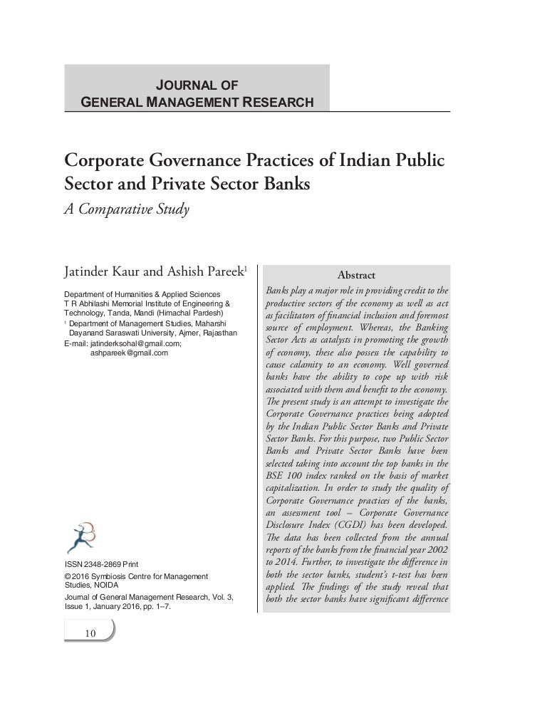 Corporate Governance Practices of Indian Public Sector and
