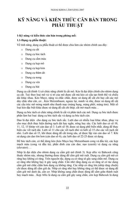 Kỹ năng ngoại khoa (p1)