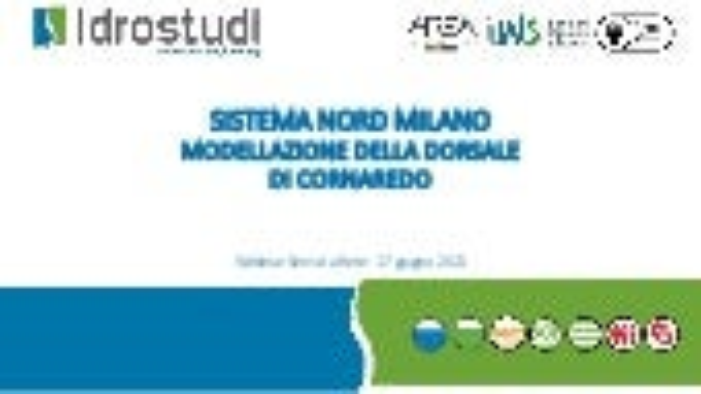 Il sistema Nord Milano - Modellazione della dorsale di Cornaredo