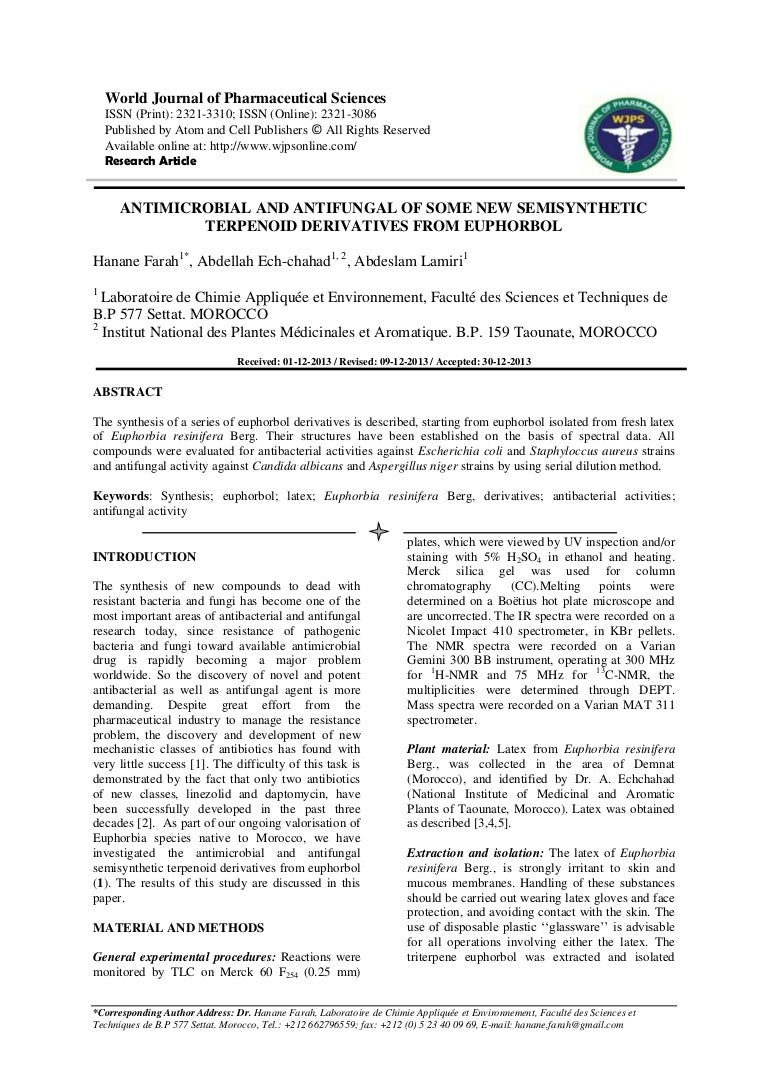 ANTIMICROBIAL AND ANTIFUNGAL OF SOME NEW SEMISYNTHETIC