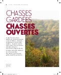 Chasses gardées, chasses ouvertes