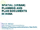 Spatial planning india
