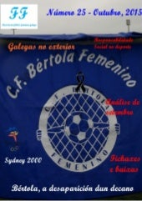 Revista fútbol femenino galego Octubre 2014