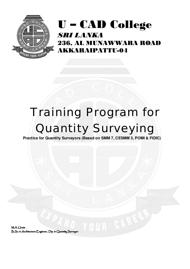 Practice for Quantity Surveyors