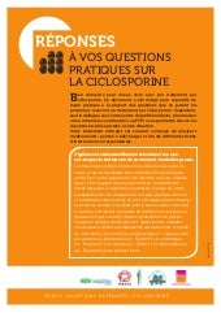02 cyclosporine   questions réponses