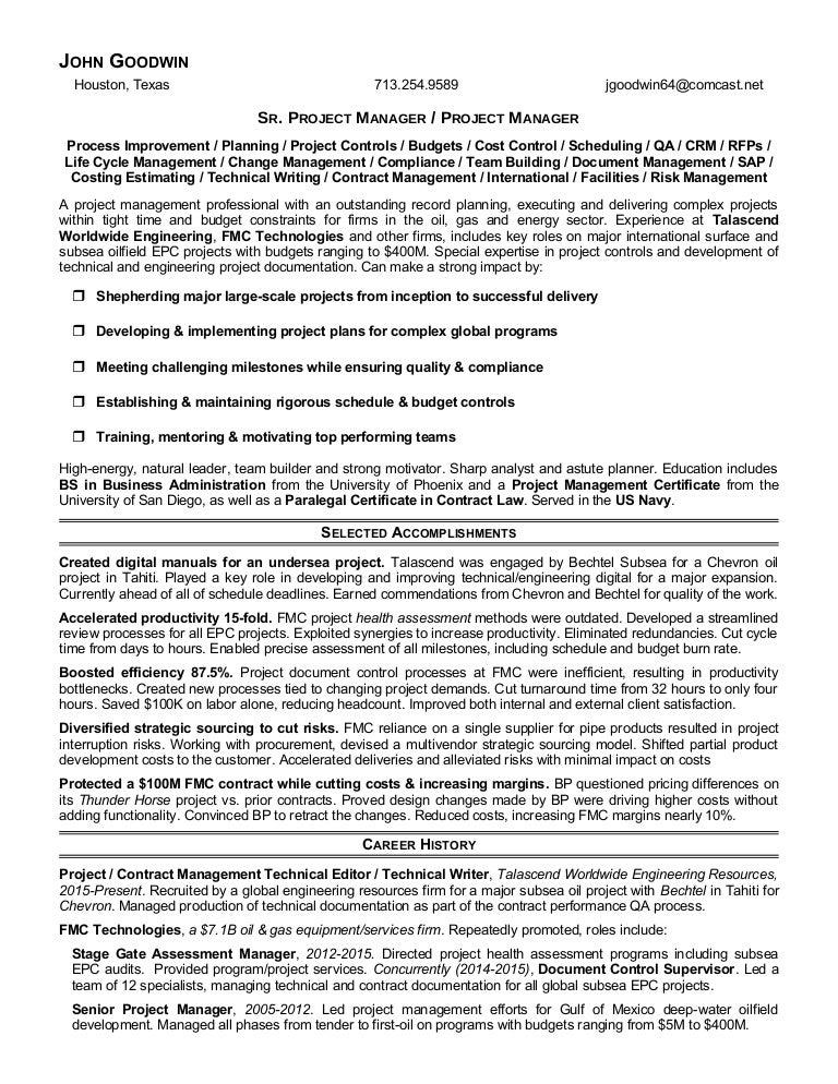Goodwin John Multipurpose Resume