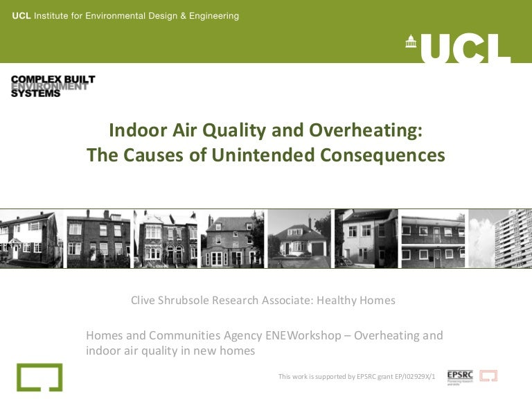 Indoor Air Quality And Overheating The Causes Of Unintended Conseque